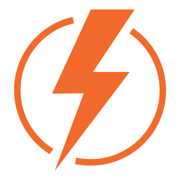 Energy icon, disabled. An orange lightning bolt.