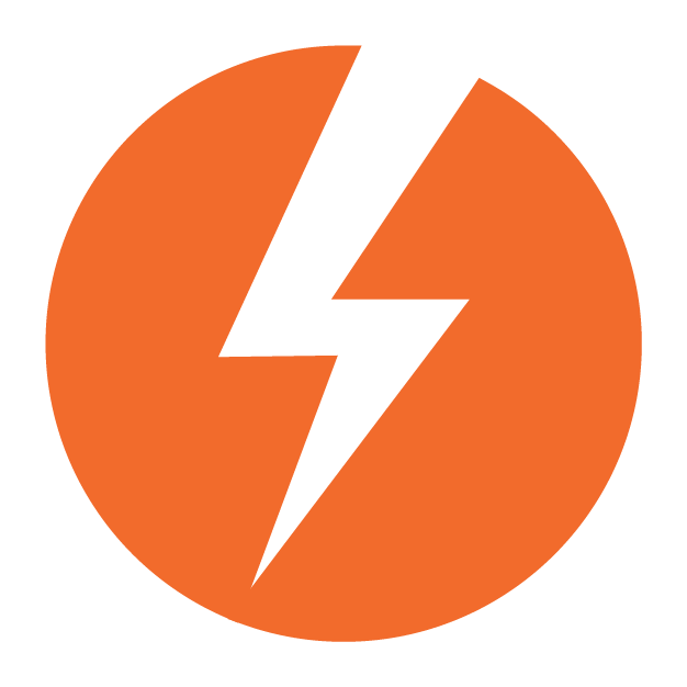 Energy icon, enabled. An orange lightning bolt.